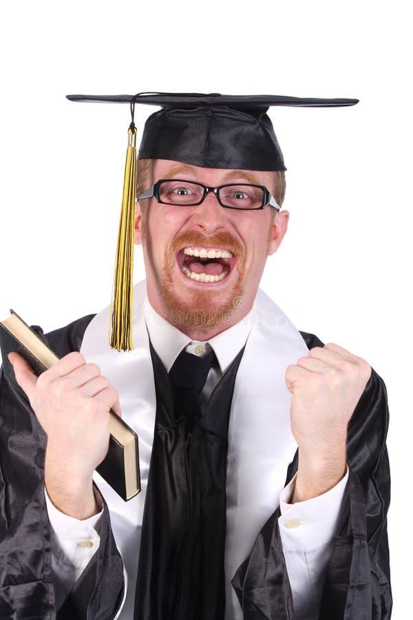 Graduação feliz um homem novo fotos de stock