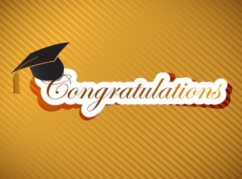 Graduação - rotulação das felicitações ilustração stock
