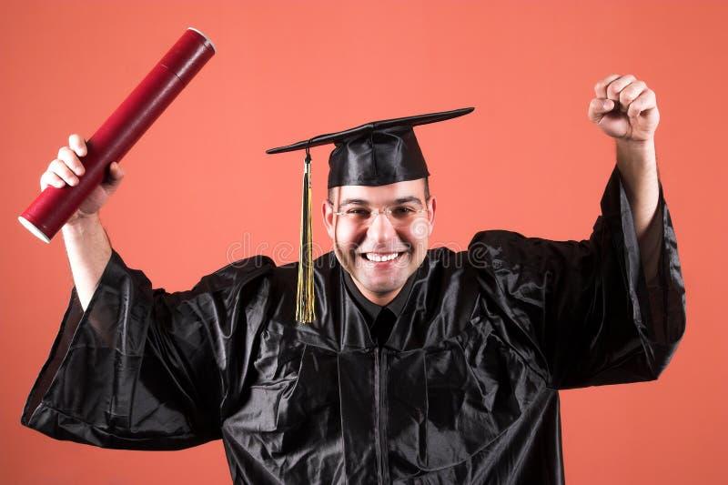 Graduação um homem fotos de stock royalty free