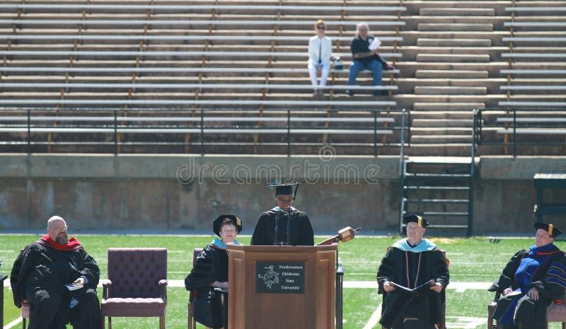 Graduação, universidade estadual do noroeste de Oklahoma fotos de stock royalty free
