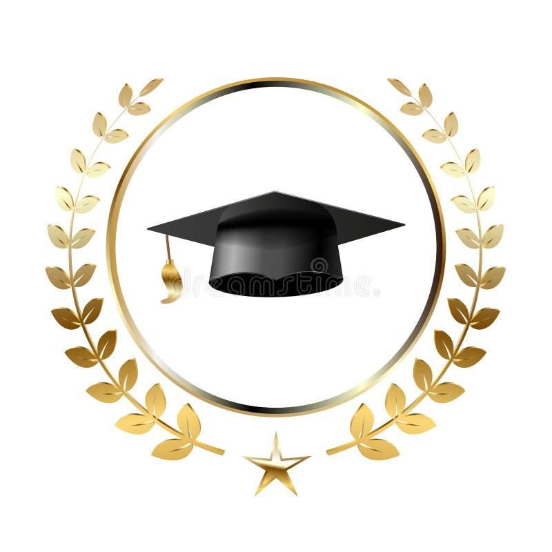 Gradua??o Logo Template Design Elements ilustração royalty free