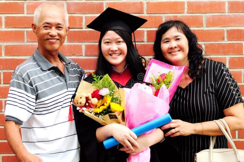 Graduación asiática fotografía de archivo libre de regalías