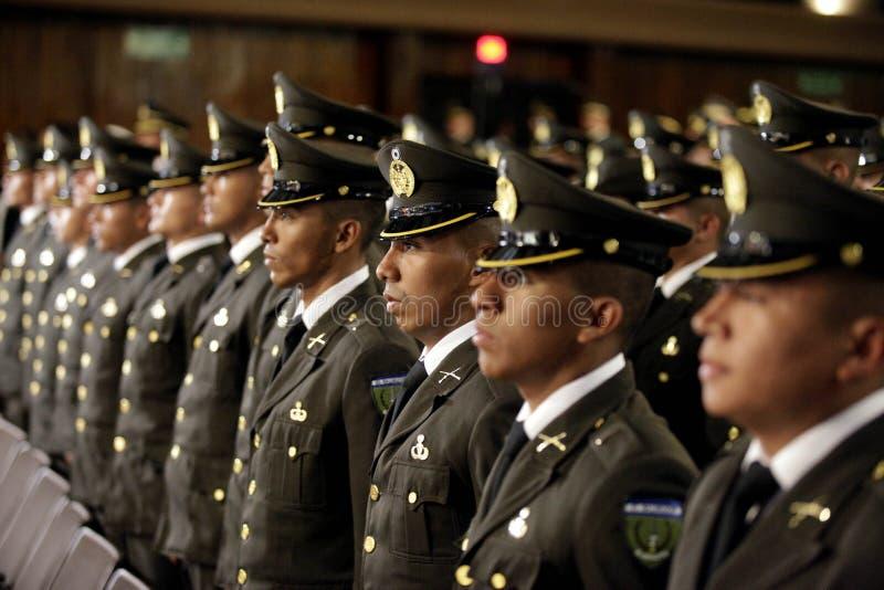 Graduación de la LXXXVIII promoción de Escuela Militar photos libres de droits