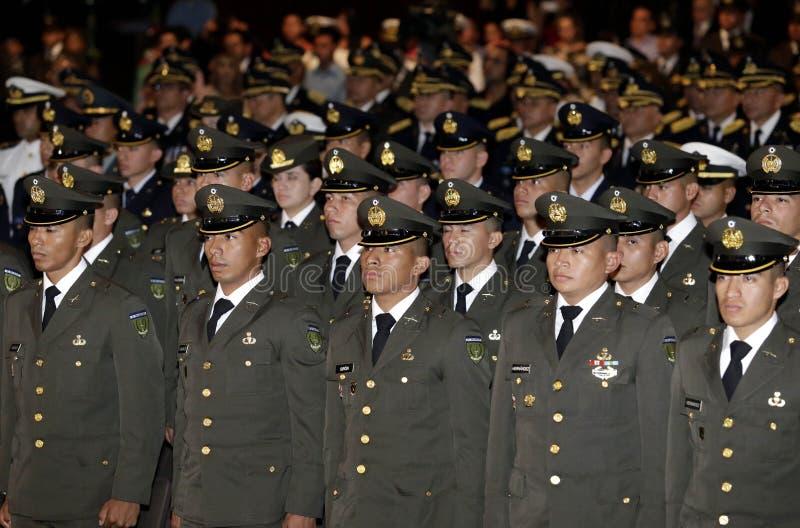 Graduación de la LXXXVIII promoción de Escuela Militar immagini stock libere da diritti