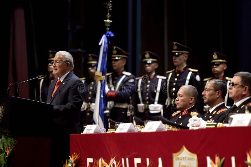 Graduación de la LXXXVIII promoción de Escuela Militar stock images