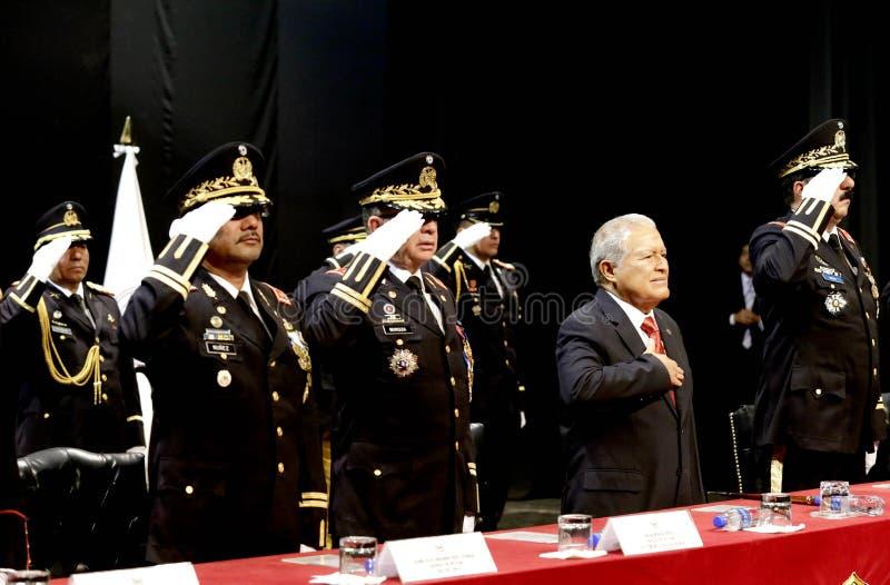 Graduación de la LXXXVIII promoción de Escuela Militar stock photos