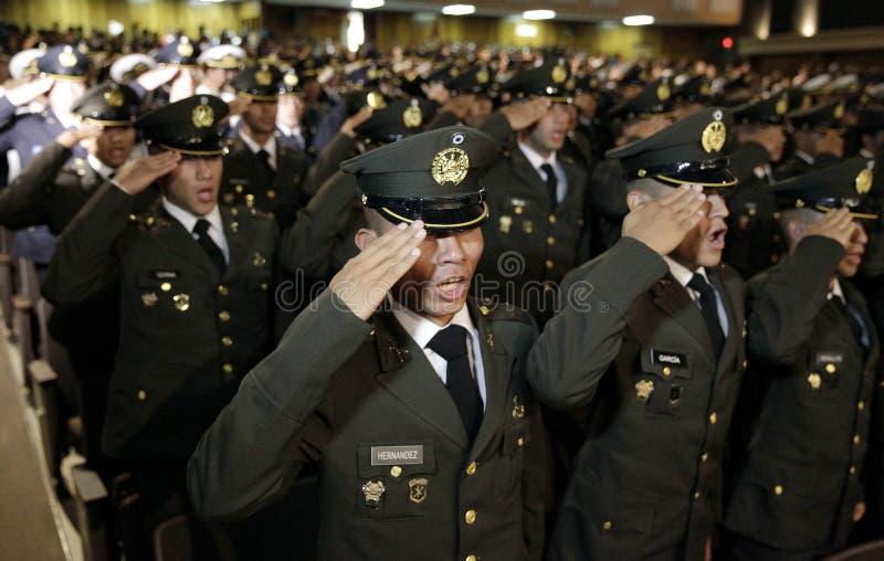 Graduación de la LXXXVIII promoción de Escuela Militar stock photo