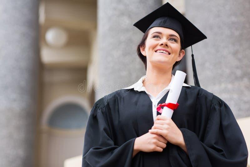 Graduación del estudiante universitario fotografía de archivo libre de regalías