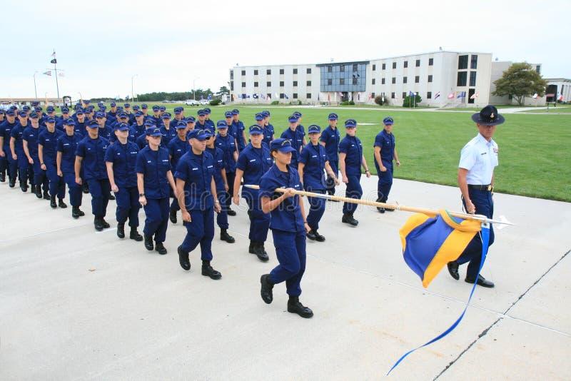 Graduación del guardacostas de los E.E.U.U. imágenes de archivo libres de regalías