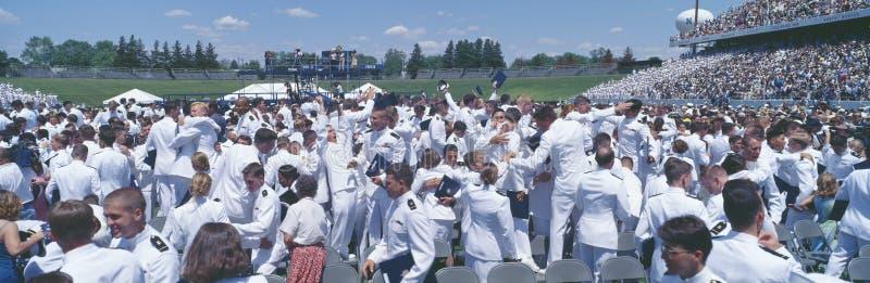 Graduación en la Academia Naval foto de archivo libre de regalías