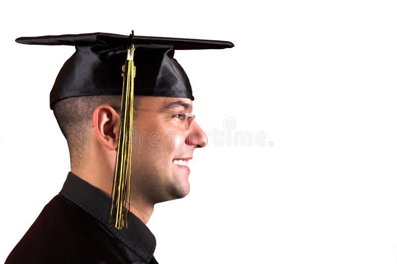 Graduación feliz un hombre joven imagenes de archivo