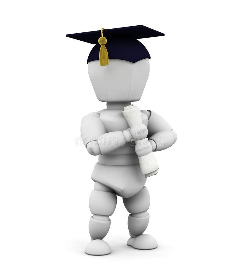 Graduado ilustração stock