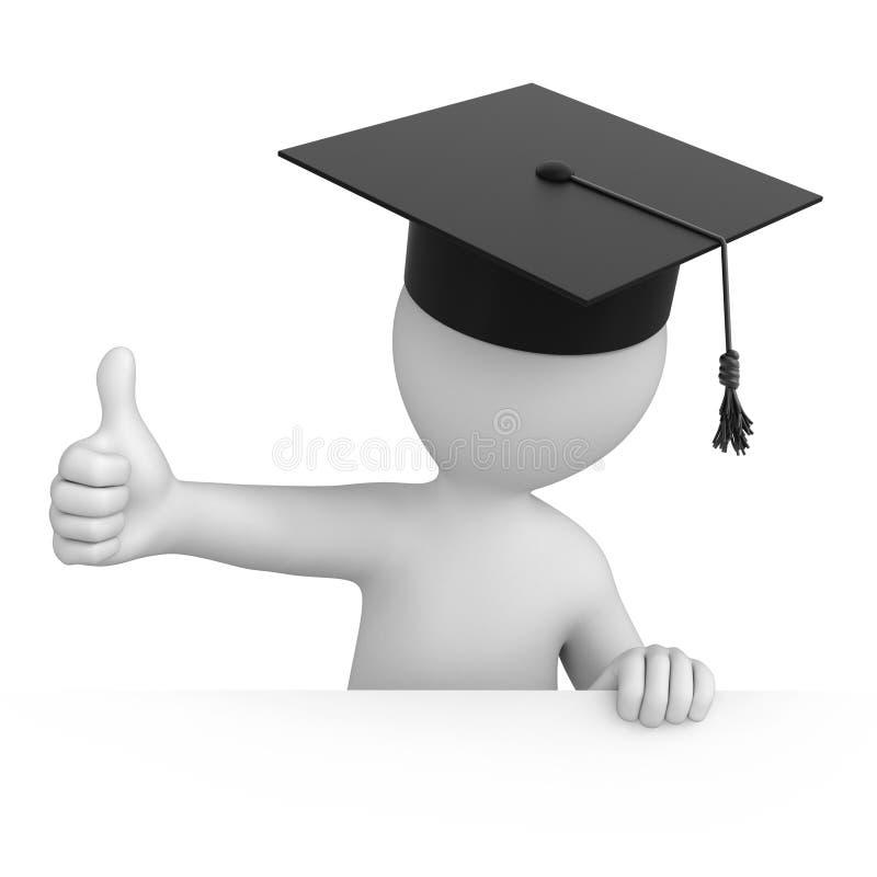 Graduado com polegar acima ilustração royalty free