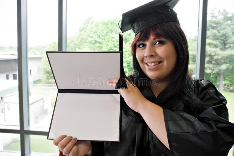 Graduado com seu diploma imagem de stock