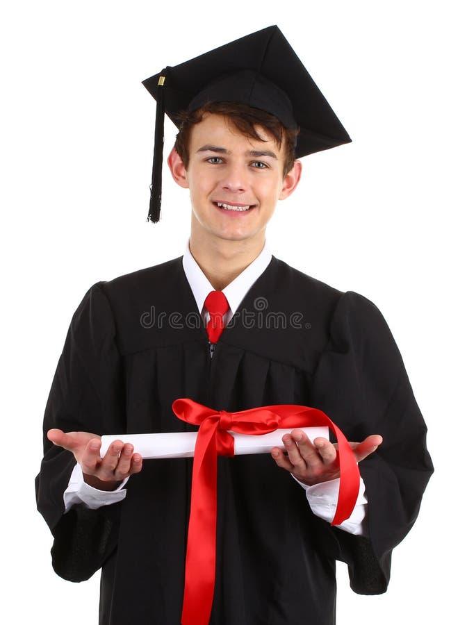 Graduado com um rolo fotografia de stock