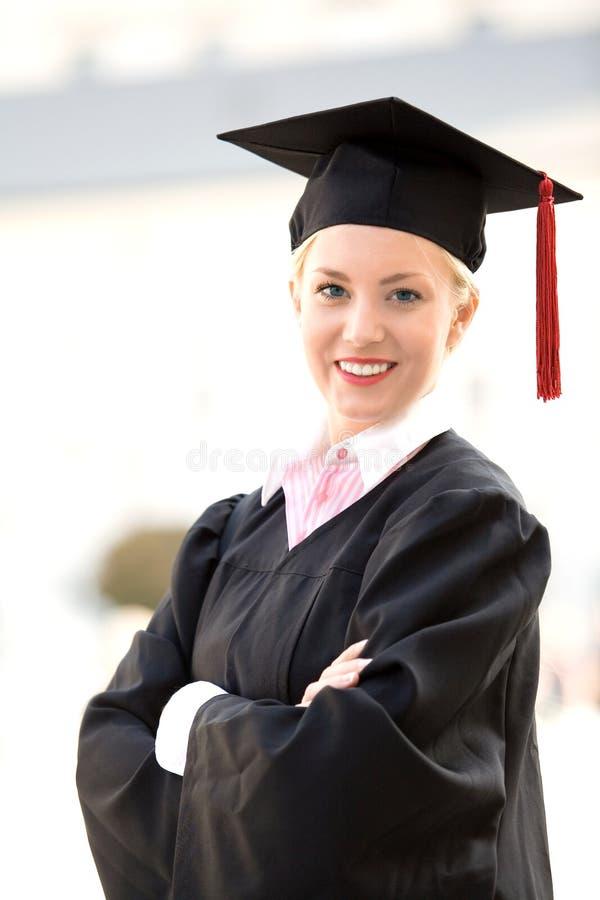Graduado da fêmea imagem de stock royalty free