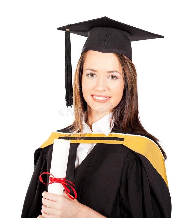 Graduado da fêmea foto de stock royalty free