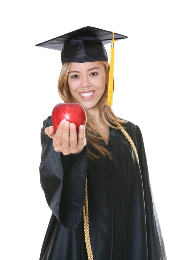 Graduado da mulher imagens de stock