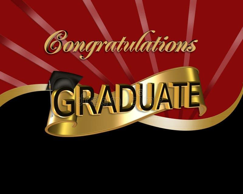 Graduado das felicitações ilustração royalty free