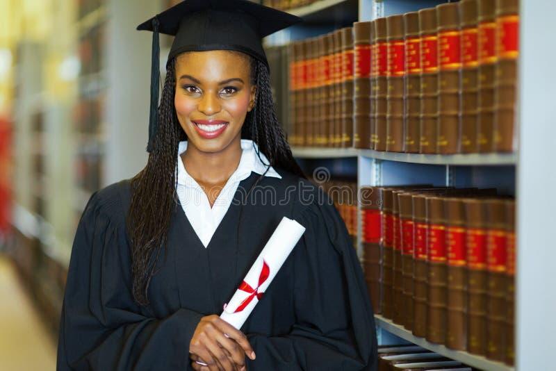 Graduado de faculdade afro-americano fotografia de stock royalty free