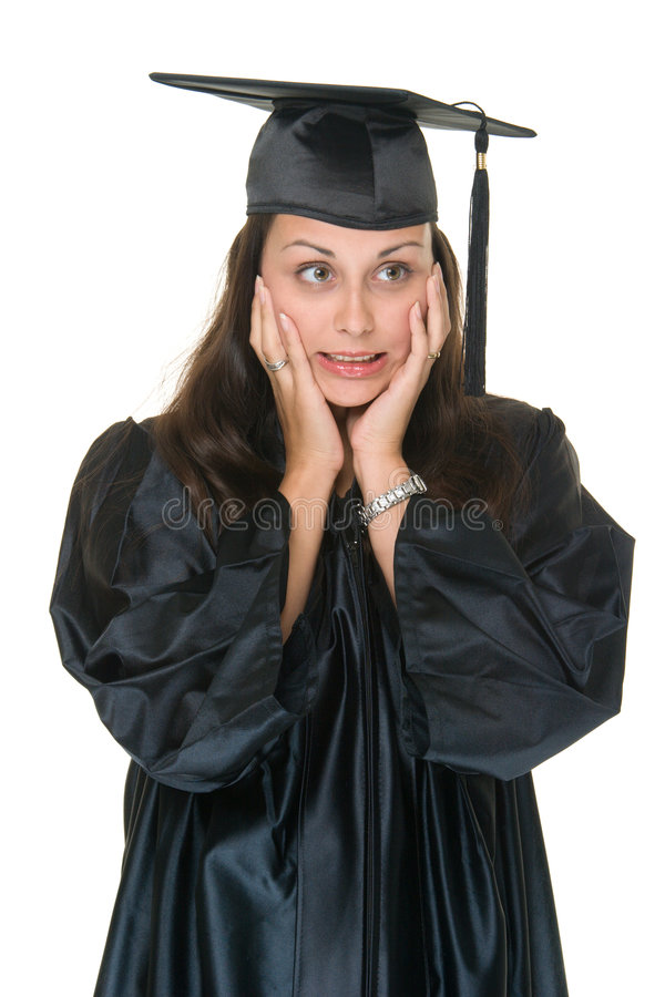 Graduado de la mujer joven imagen de archivo