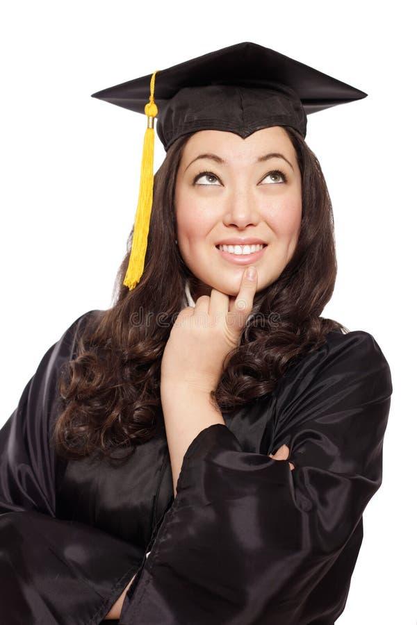Graduado de pensamento fotografia de stock royalty free