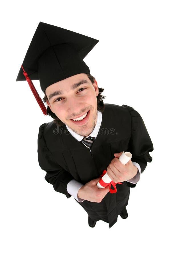 Graduado do macho foto de stock
