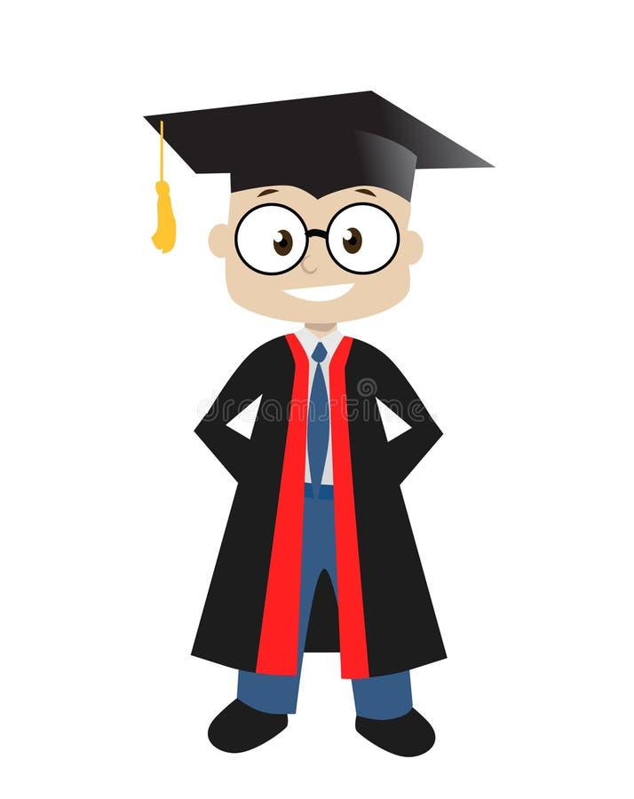 Graduado do menino ilustração do vetor