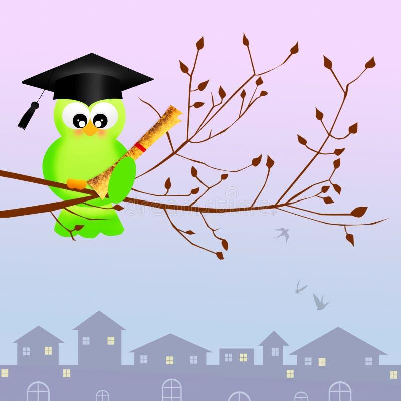 Graduado do pássaro ilustração stock
