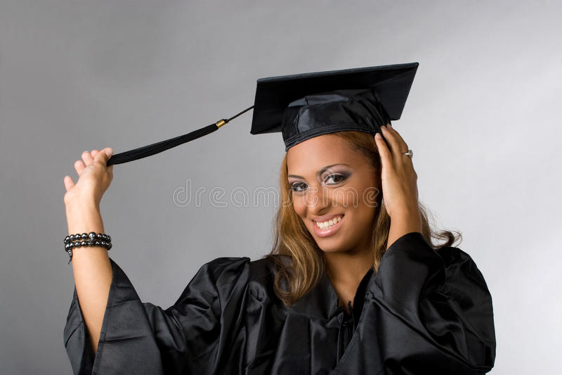 Graduado feliz foto de stock royalty free