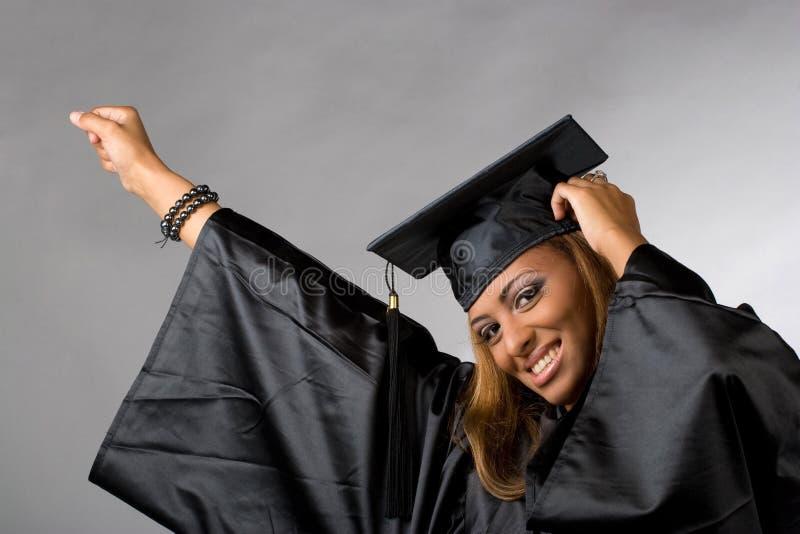 Graduado feliz imagem de stock royalty free