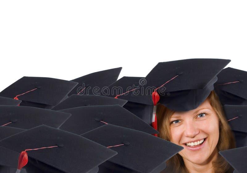 Graduado feliz fotografia de stock royalty free