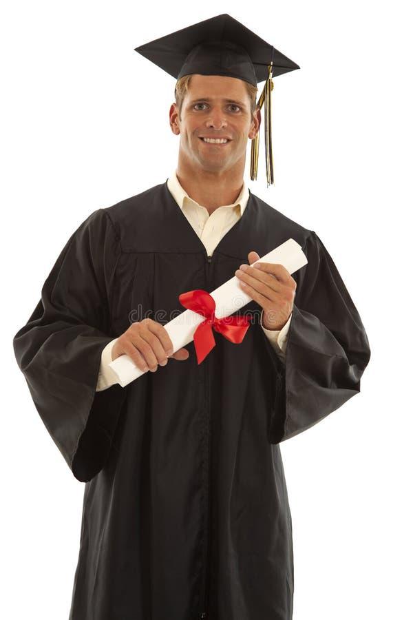 Graduado feliz do macho imagem de stock