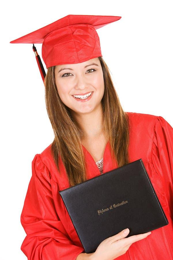 Graduado: Guardando um diploma do estilo do livro fotografia de stock