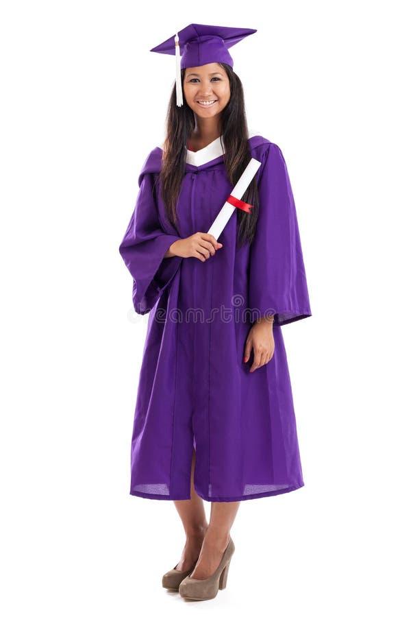 Graduado malaio da faculdade imagens de stock royalty free