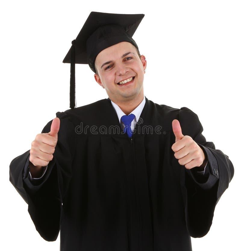 Graduado muito feliz foto de stock