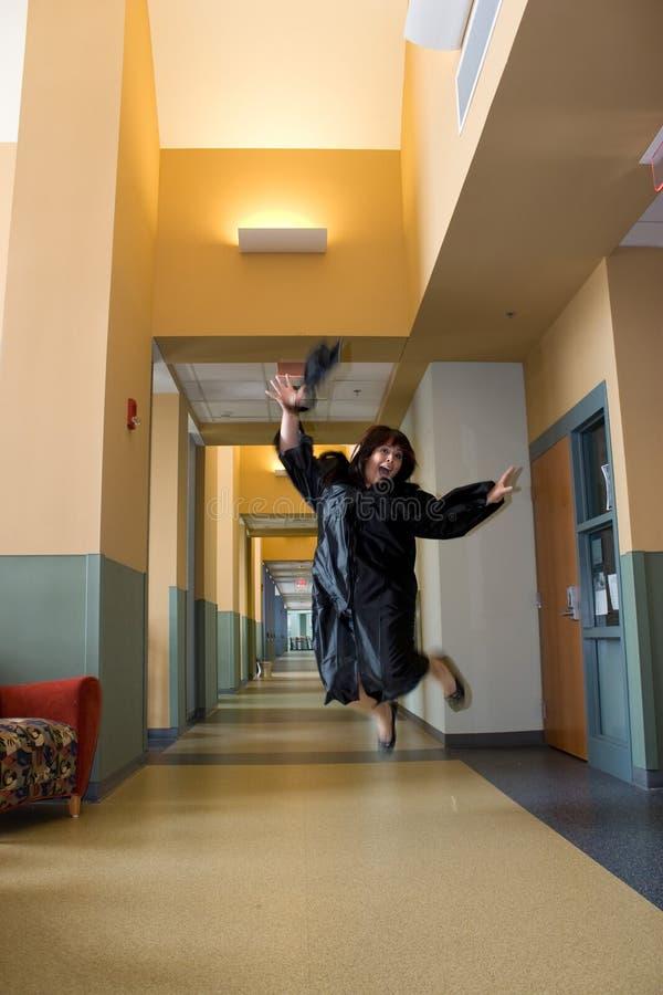 Graduado Overjoyed foto de stock