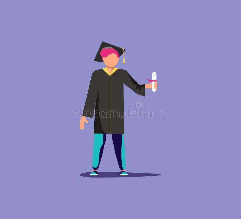Graduado vestido académico stock de ilustración