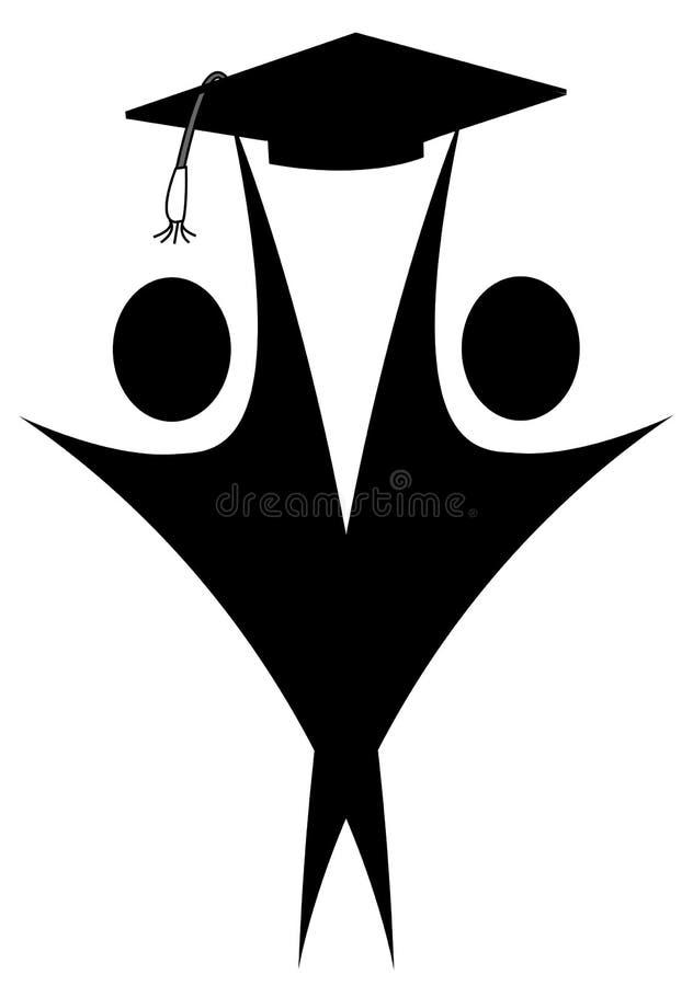 Graduados ilustração royalty free