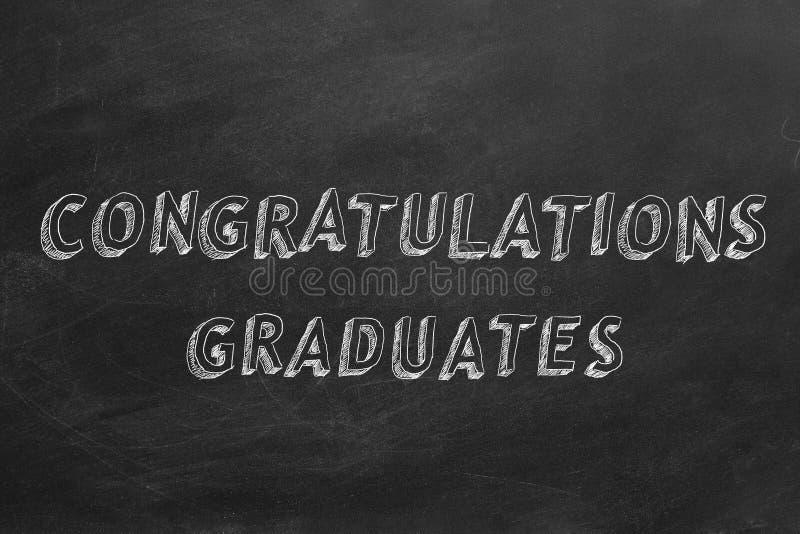 Graduados das felicita??es ilustração royalty free