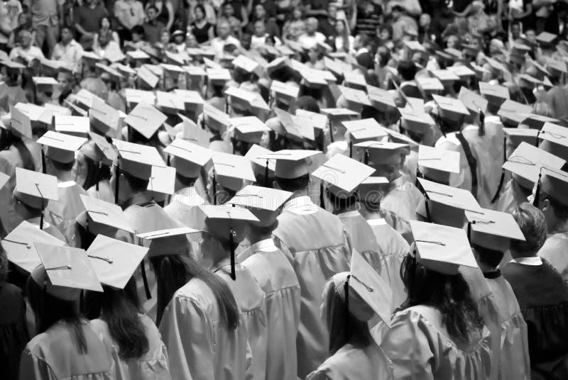 Graduados preto e branco fotografia de stock royalty free