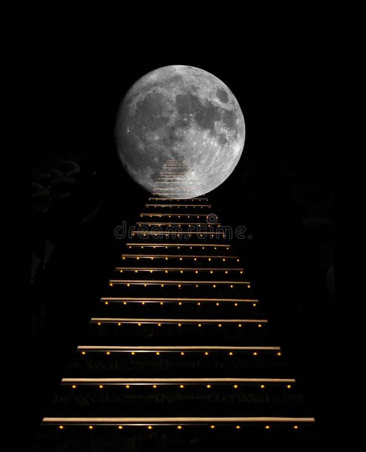 Gradualmente a la luna. fotografía de archivo