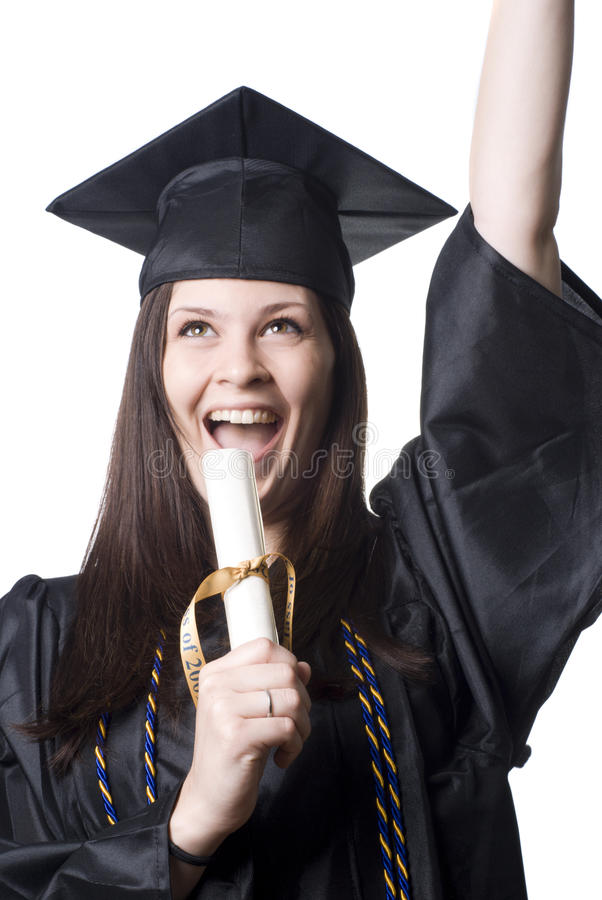 Download Graduate stock image. Image of female, yelling, high - 14742883