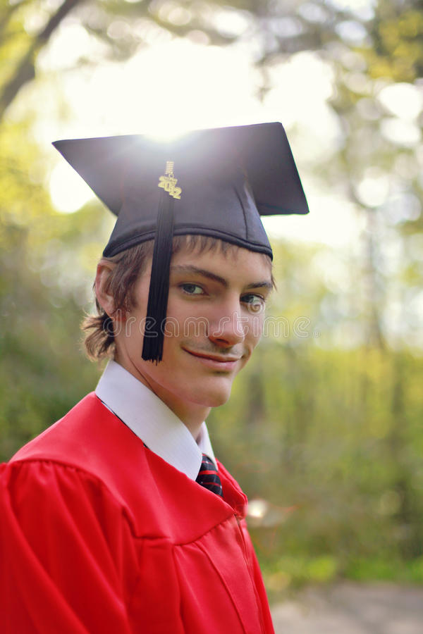 Student In Cap And Gown Stock Photos