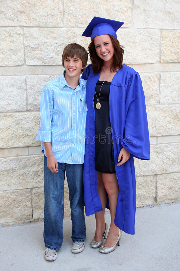 Download Graduate and Brother stock photo. Image of lady, girl - 6119392