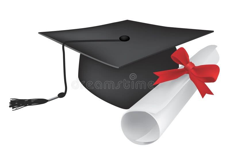 Download Graduate_cap_diploma stock illustration. Image of scroll - 22609371