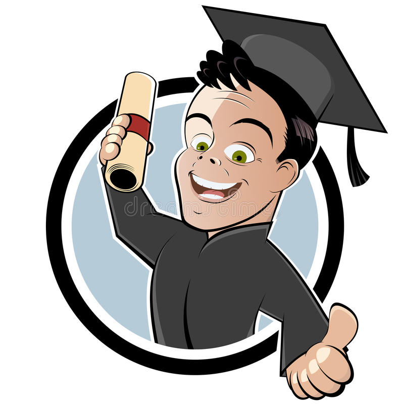 Graduate with Cap and Gown