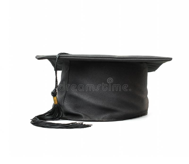 Graduate cap isolated on white background. royalty free stock image