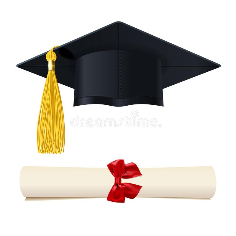 Free Graduate Cap With A Diploma In The Scroll Royalty Free Stock Photos - 117122778