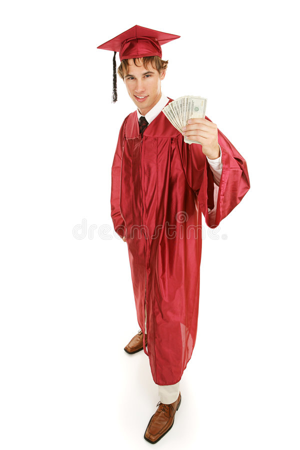 Download Graduate & Cash Full Body stock photo. Image of graduation - 4571498